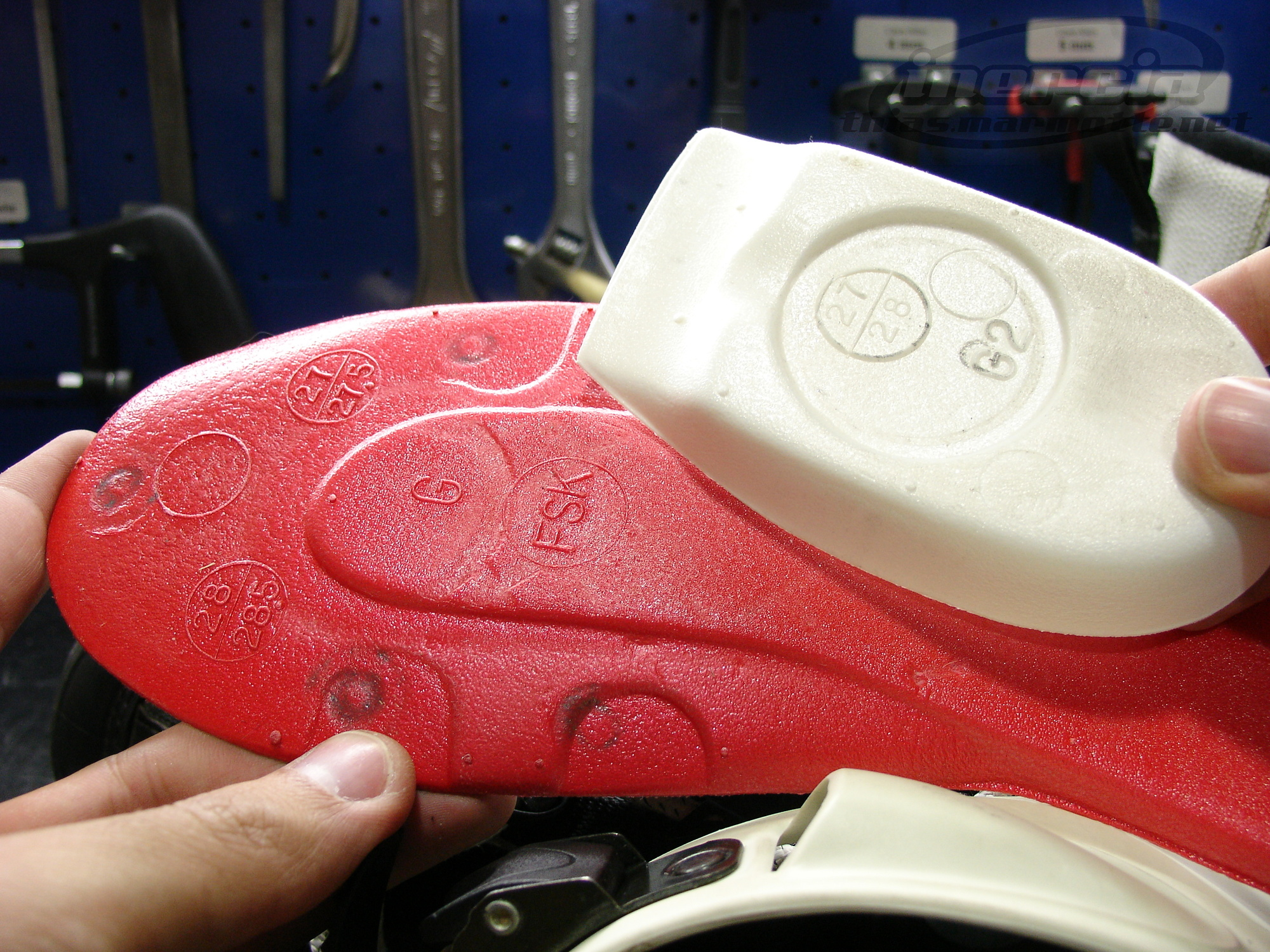 Boot sole and shock absorber